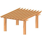 Rough Cut Pergola