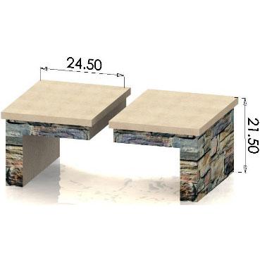 Small Wood Box (Pair) (HWO-WB24)