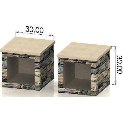 Large Wood Box (Pair) (HWO-WB30)