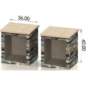 Extra Large Wood Box (Pair) (HWO-WB36)