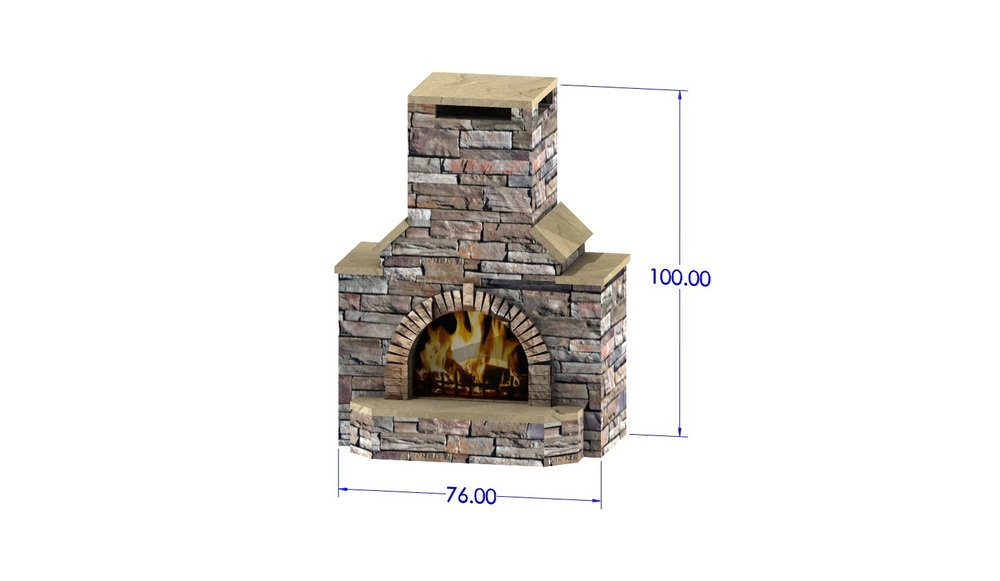 Tuscan Fireplace