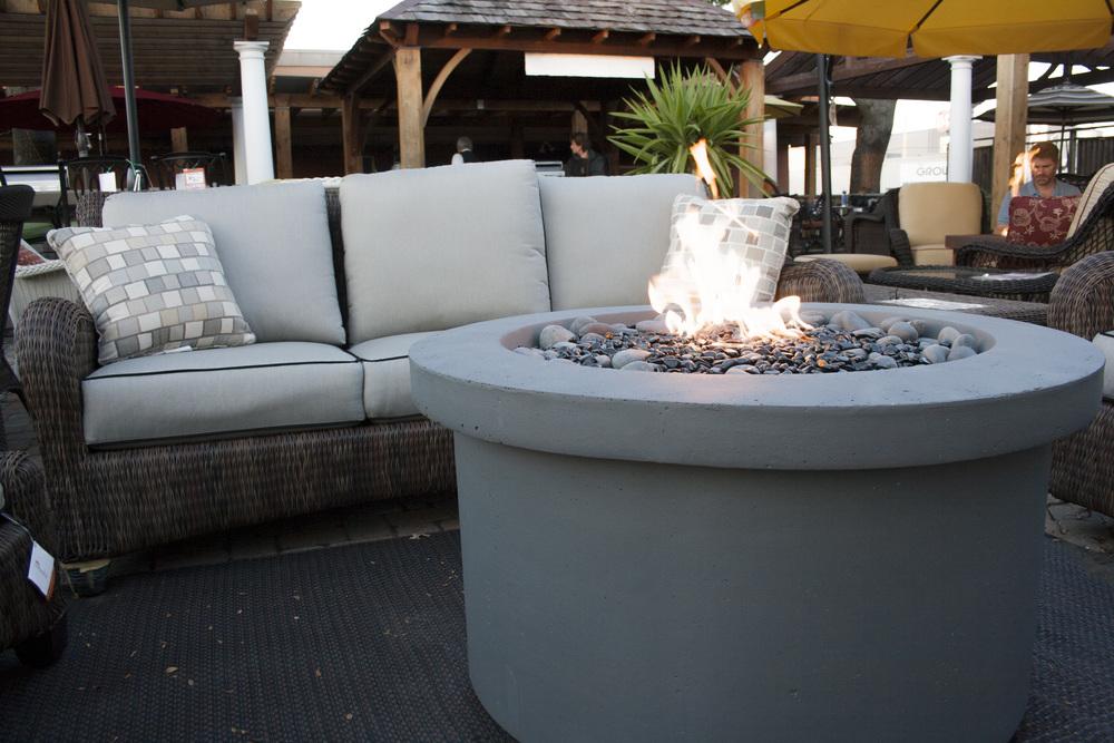 "Urban Series Slate Grey Fire Pit 42"" diameter."