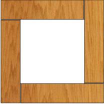 """8"""" x 8"""" x 8' Framed Cedar Post (Top View)"""