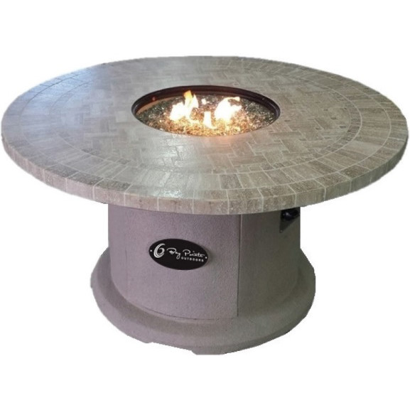 Travertine Top Firepit 42TR $2,098; 48TR $2,398