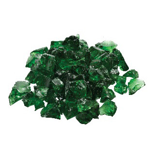 "1/2"" Green Glass (10 lbs)   $105"