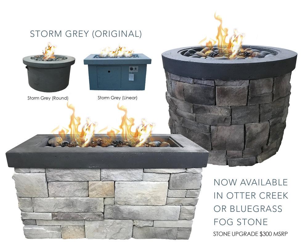 Stormy Grey Urban Firepit