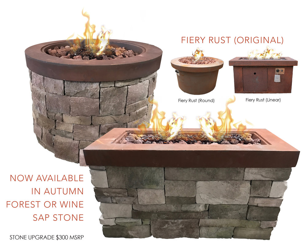 Fiery Rust Urban Series Firepits