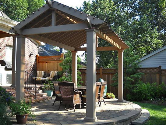 Pavilion Pergola with driftwood stain & metal roof_screen_600px.jpg