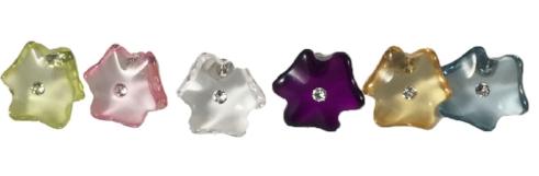 cristallo colors: luminous green, pink quartz, clear, violet, lt.col topaz, glacier blue