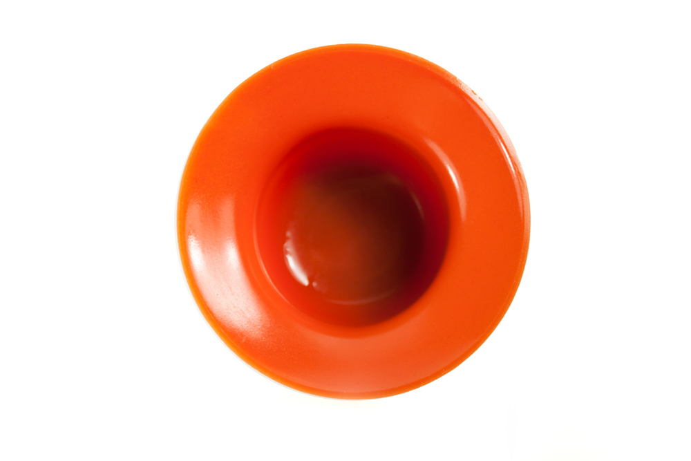 Top view of tomato jelly food nest cup
