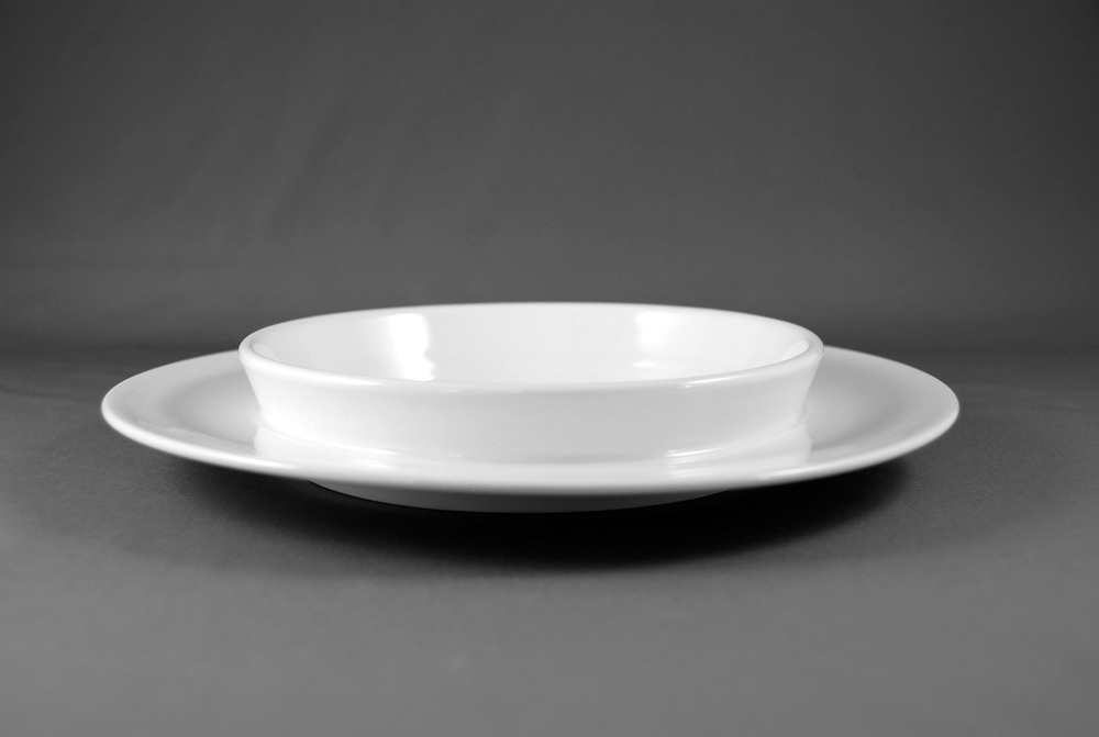 Bowl-plate for salad front view