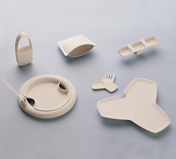 Edible conceptual containers were presented at Aichi in 2005