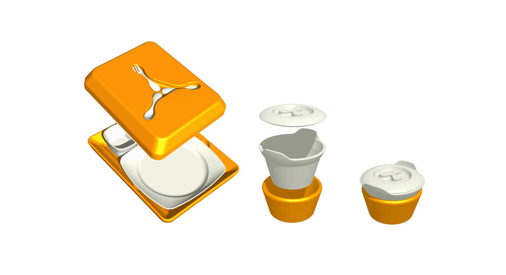 Réconfort hospital tableware 3d view