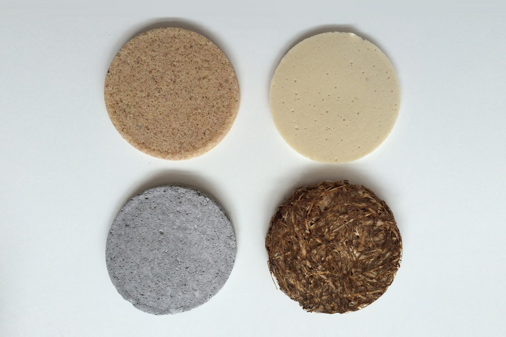 Biodegradable materials samples