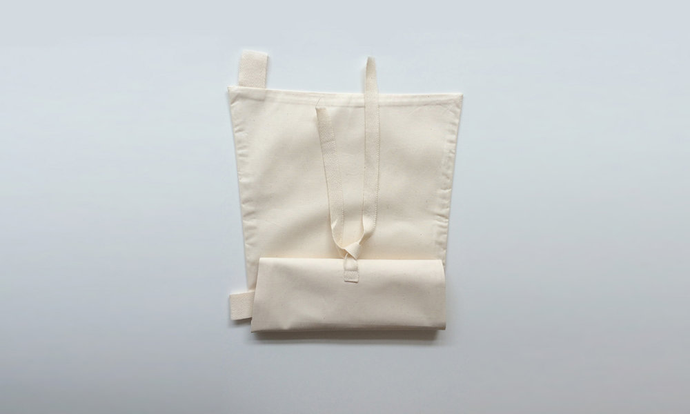Dispersion bag for ashes folded