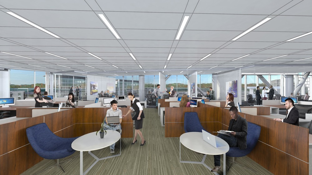 Efficient floor plans for professional office use with finished 10' ceiling heights. Exterior glass-walled offices maximize stunning views of the Bay, Silicon Valley, and Western Foothills.