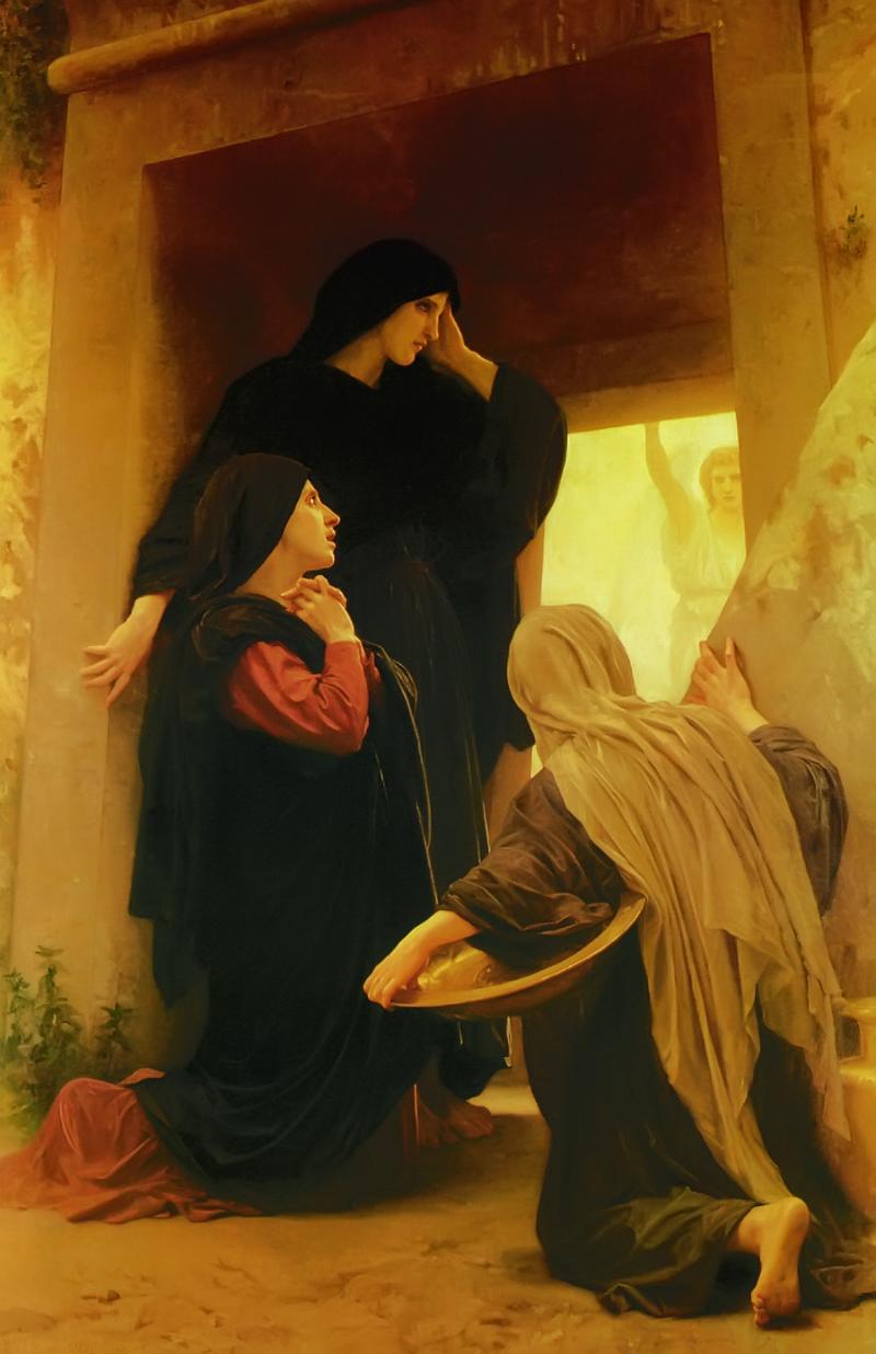The Three Marys at the Tomb, William-Adolphe Bouguereau (1825-1905, French).Oil on canvas.Koninklijk Museum voor Schone Kunsten, Antwerp, Belgium.