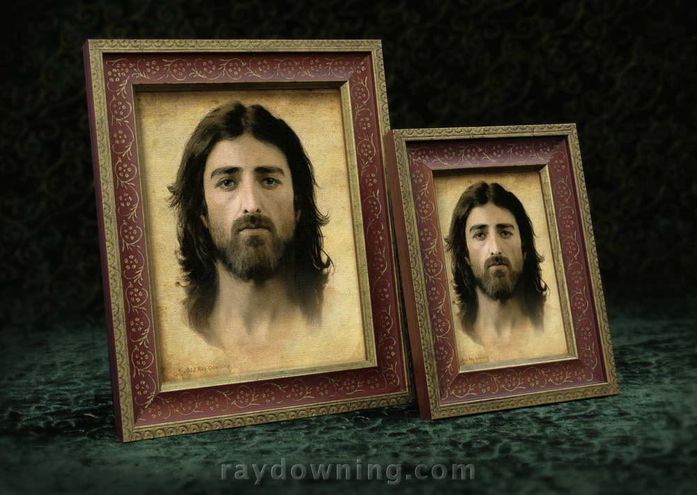 Jesus Portrait Framed Ray Downing