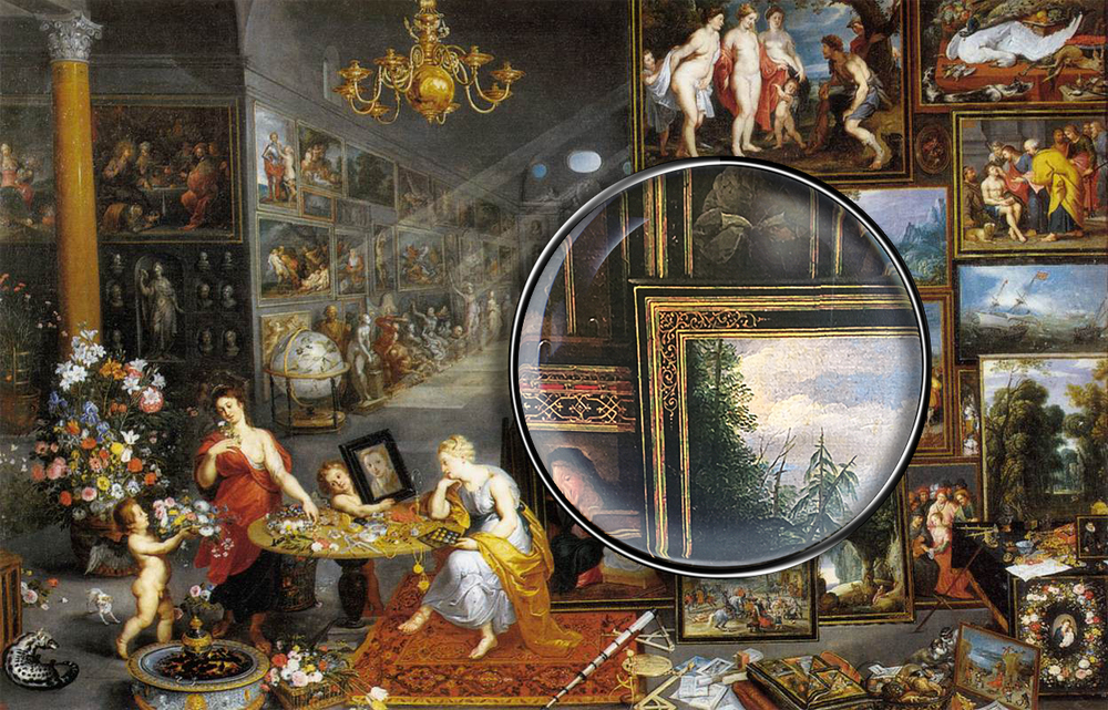Jan Brueghel the Elder (Flemish, 1568-1625), Sight and Smell, c. 1620. Prado Museum, Madrid.