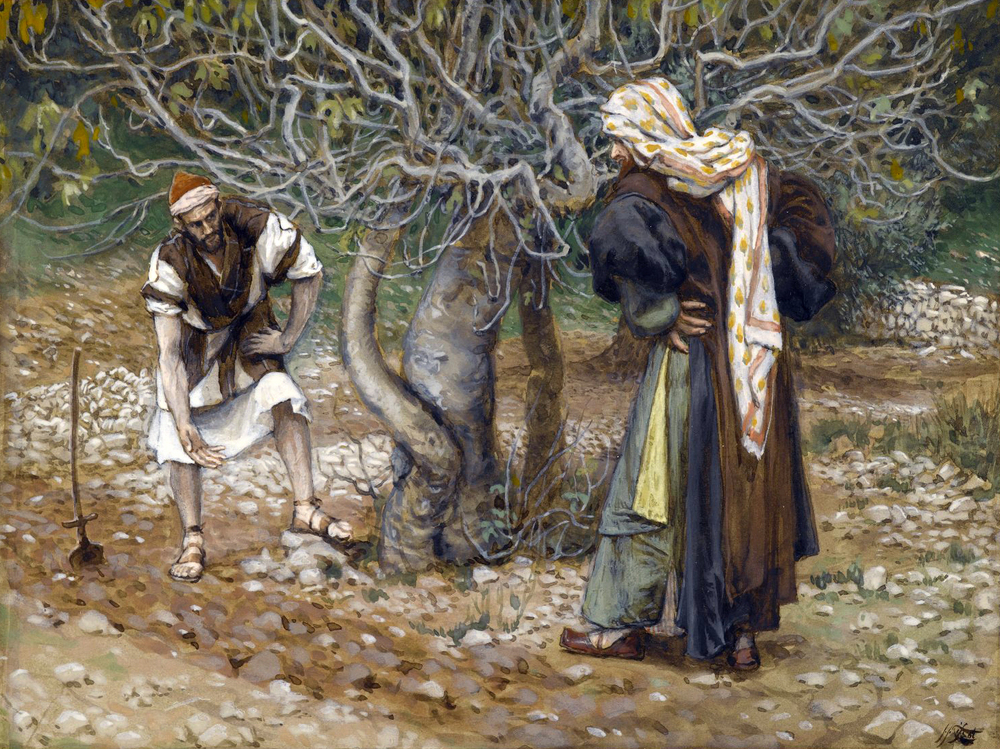 James Tissot (French, 1836-1902). The Vine Dresser and the Fig Tree, 1886-1894. Brooklyn Museum, New York.