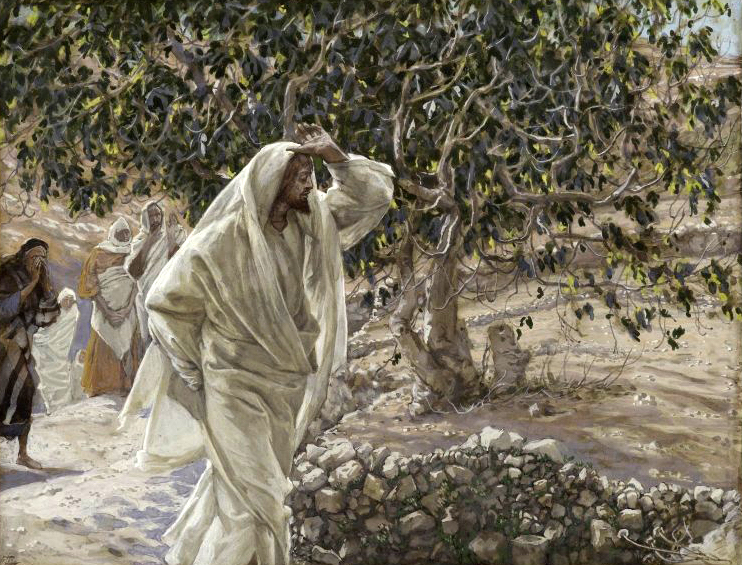 James Tissot (French, 1836-1902). The Accursed Fig Tree, 1886-1894. Brooklyn Museum, New York.