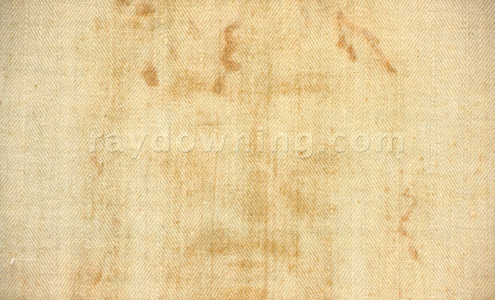 Shroud of Turin fabric detail