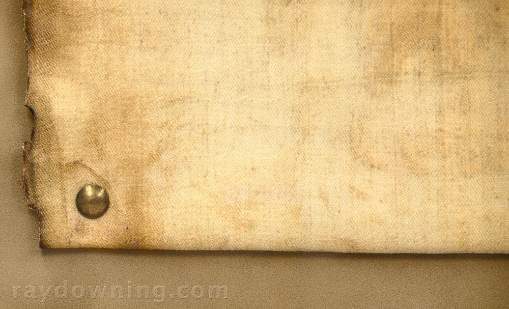 Shroud of Turin fabric detail nail