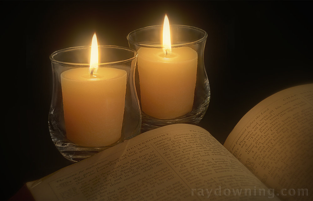 Candles scented frankincense myrrh