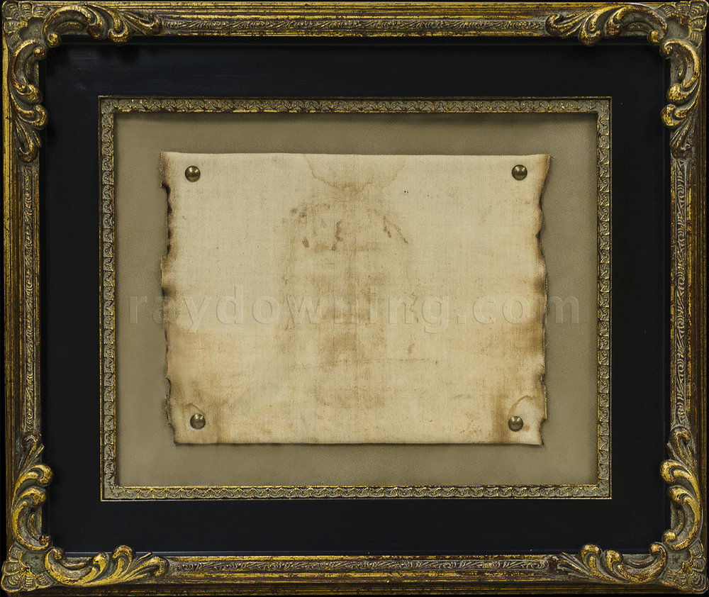 Shroud of Turin framed real fabric.jpg