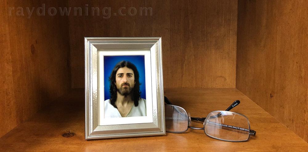 Jesus picture mini frame silver