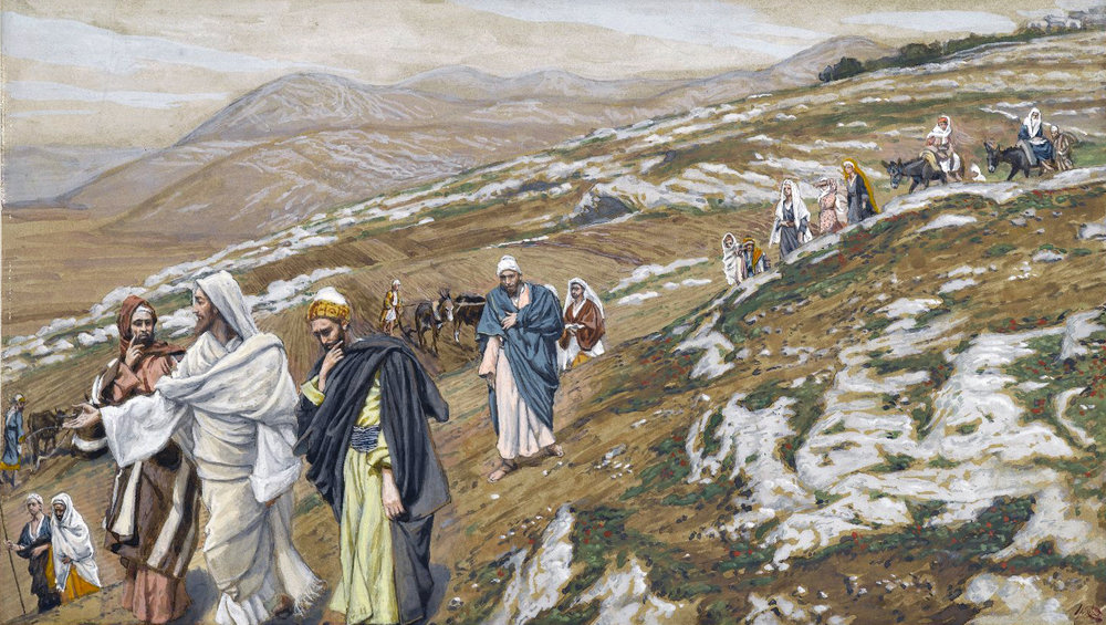 James Tissot (French, 1836-1902). Jesus Traveling, 1886-1896. Brooklyn Museum.