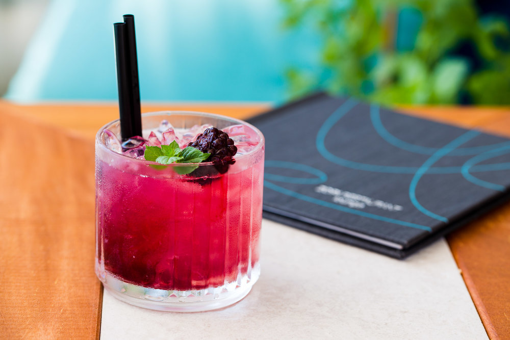 Bramble Bee   - Chase dry gin, black currant liqueur, lime juice, honey