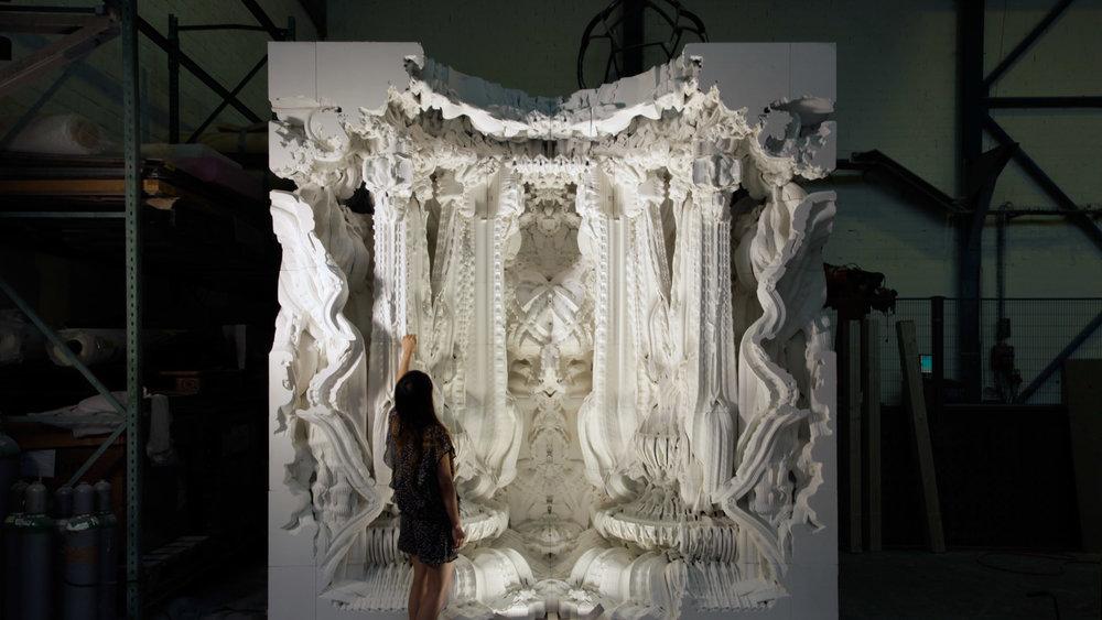 Michael Hansmeyer and Benjamin Dillenburger's 3D printed Digital Grotesque