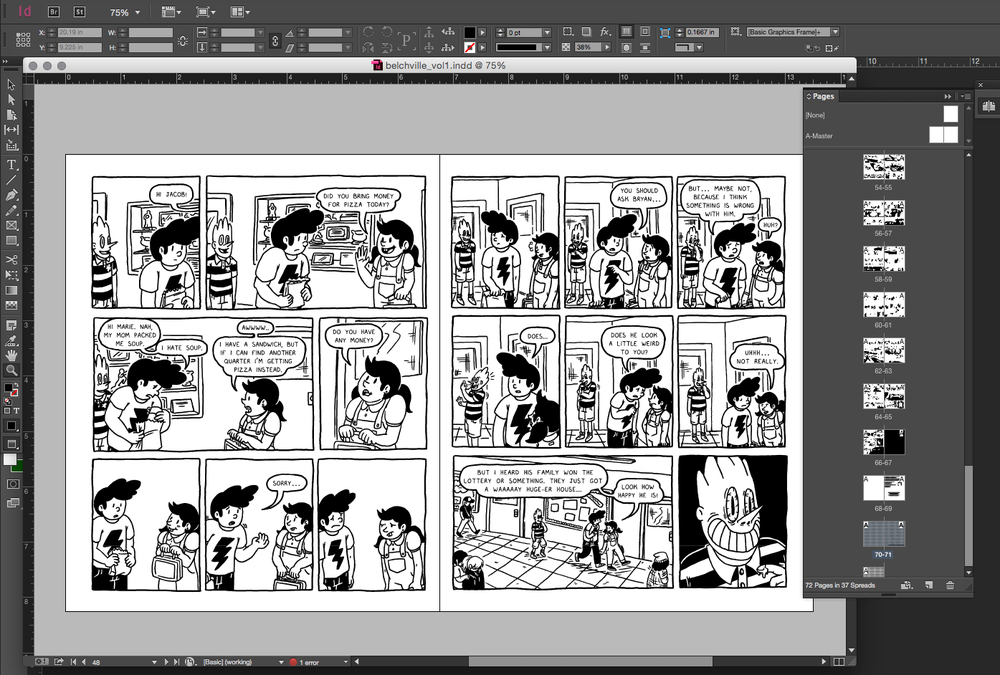 Everything laid out all nicely in InDesign!