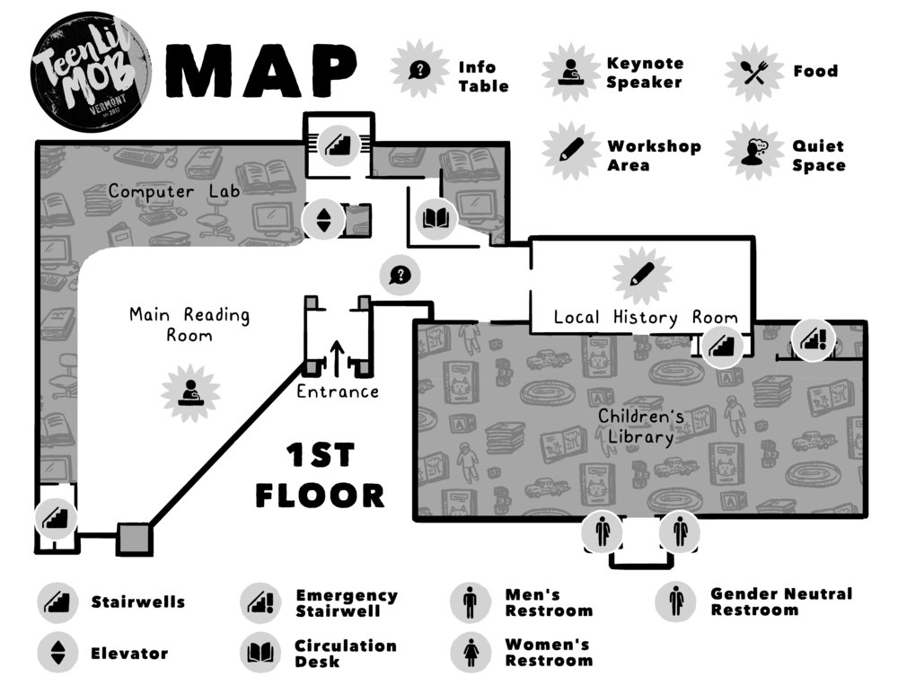 Fletcher Free Library Event Map