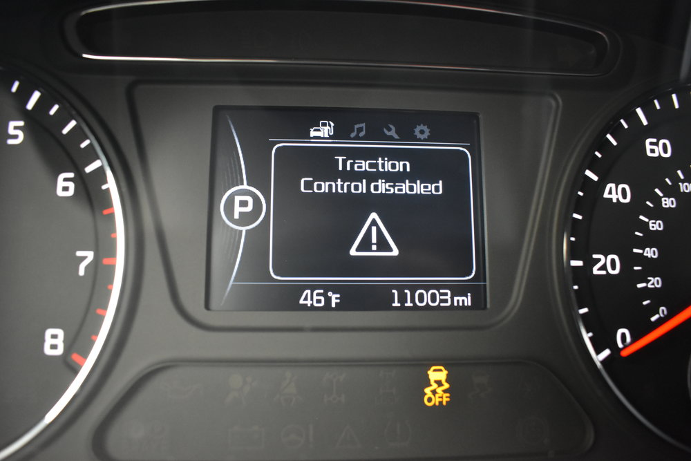 TRACTION CONTROL DISABLED