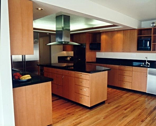 Modern cherry kitchen