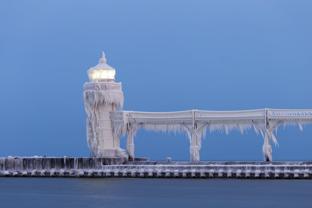 Amazing images of the Saint Joseph Lighthouse on Lake Michigan completely frozen over - Lonely Planet Travel News. Article by James Gabriel Martin. Photographs by Joshua Nowicki