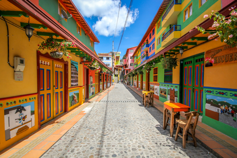 Is this the most colourful town in the world? Blogger documents Guatapé in Colombia - Lonely Planet Travel News. Article by James Gabriel Martin. Photographs by Jessica Devnani of Pink Plankton