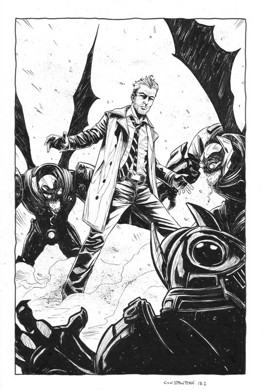 """a sample of Jeremy's work, from the """"Constantine"""" comic."""
