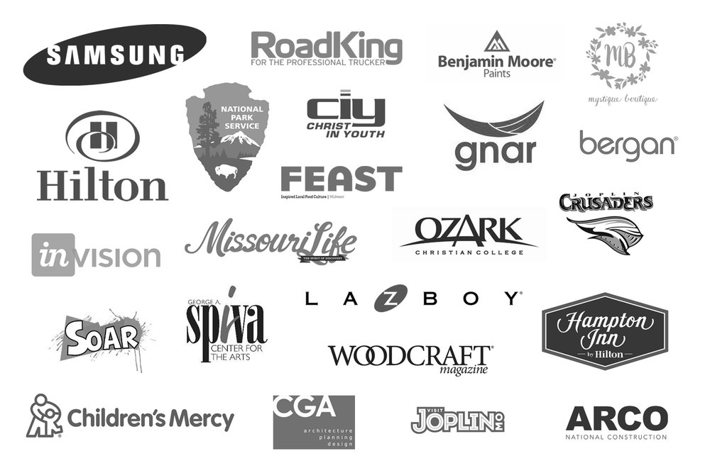 client logo list for midwest commercial and editorial photography studio, Mark N photography.jpg