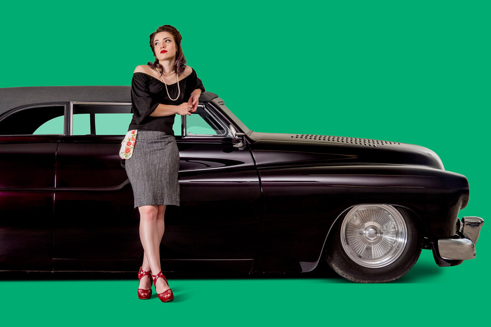 9commercial photography of cars with models in pin-up poses.jpg