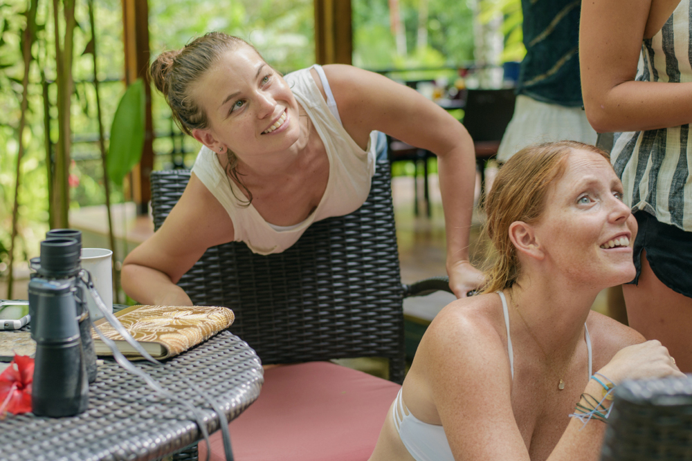 You'll never guess what could happen while you are dining al fresco in the jungle?