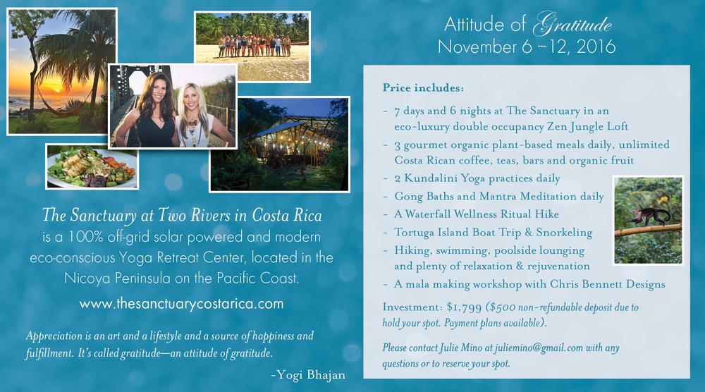 kundalini yoga retreat costa rica November 6-12, 2016