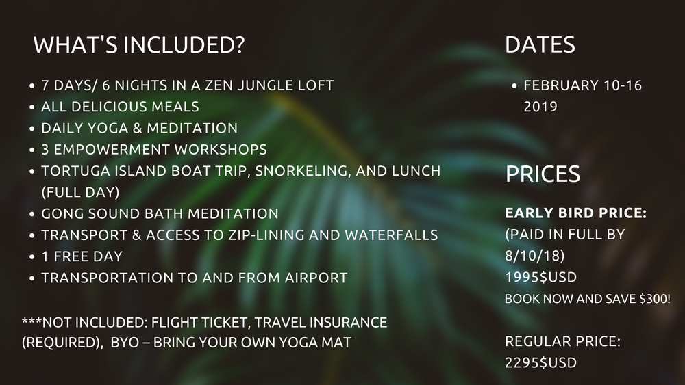 best yoga empowerment meditation retreat costa rica february 2019