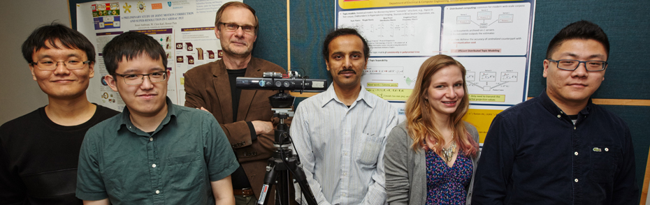 Current members in Visual Information Processing lab in Boston University, the guy in rightmost is me.