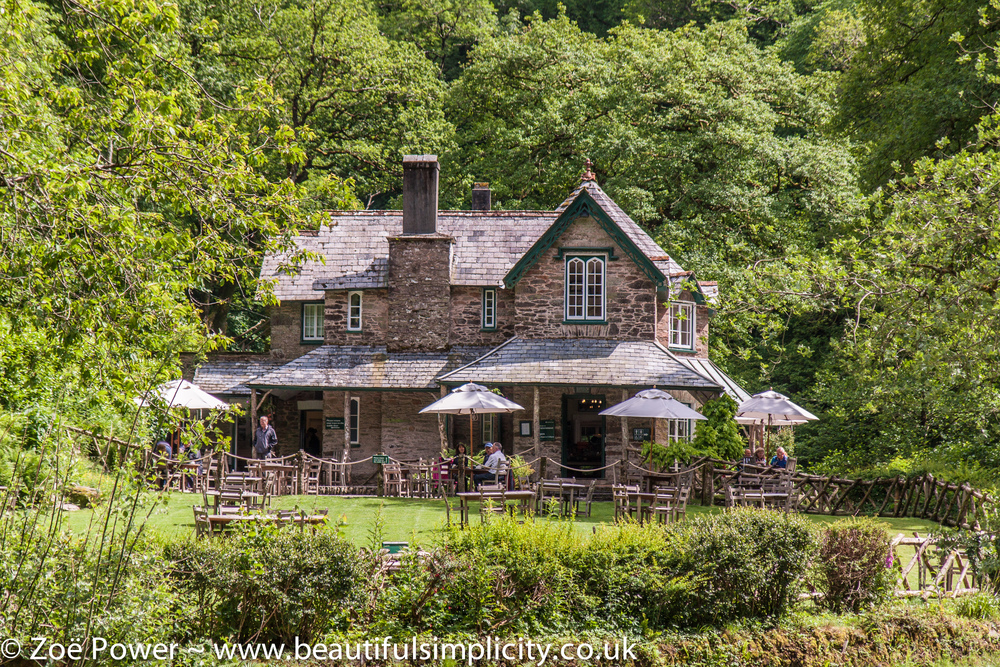 The National Trust cafe at Watersmeet