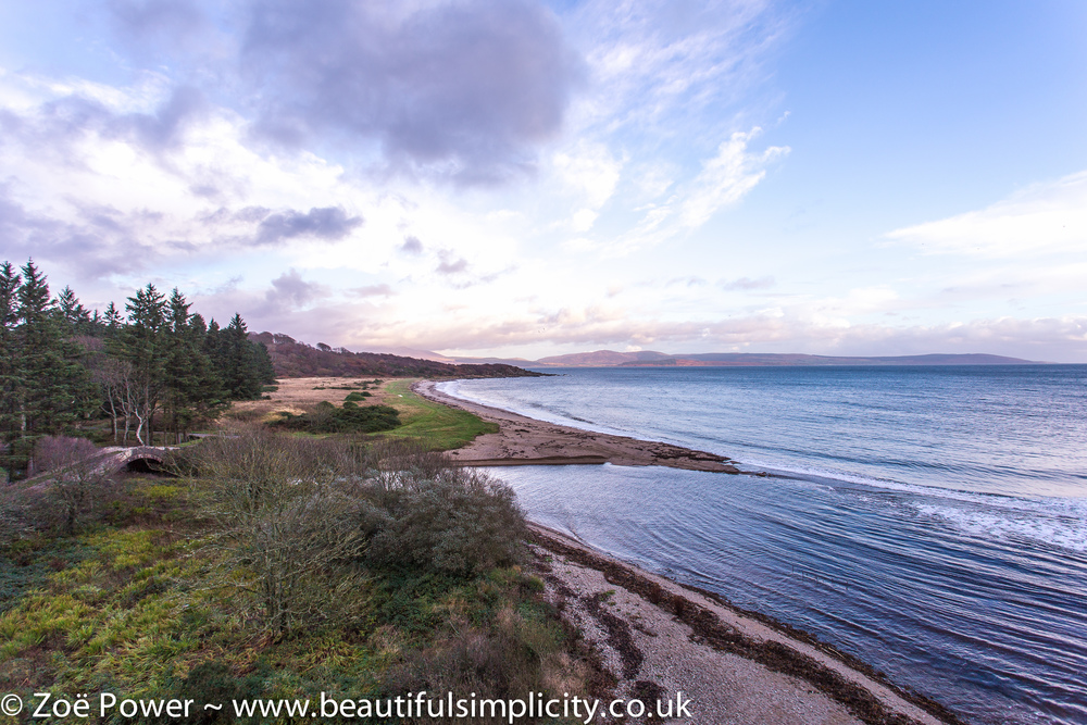 View from Saddell Castle, Saddell Bay, Kintyre, Scotland