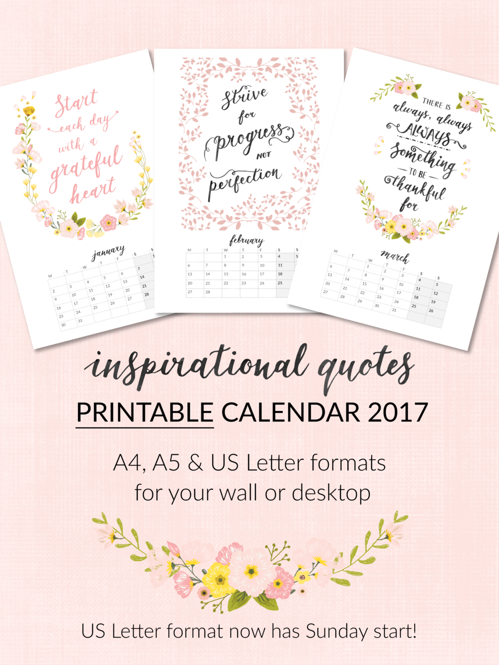 Printable 2017 Calendars Now In My Etsy Shop Beautiful Simplicity