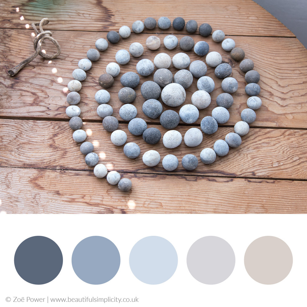Pebble grey colour palette | Kettle's Yard, Cambridge, UK